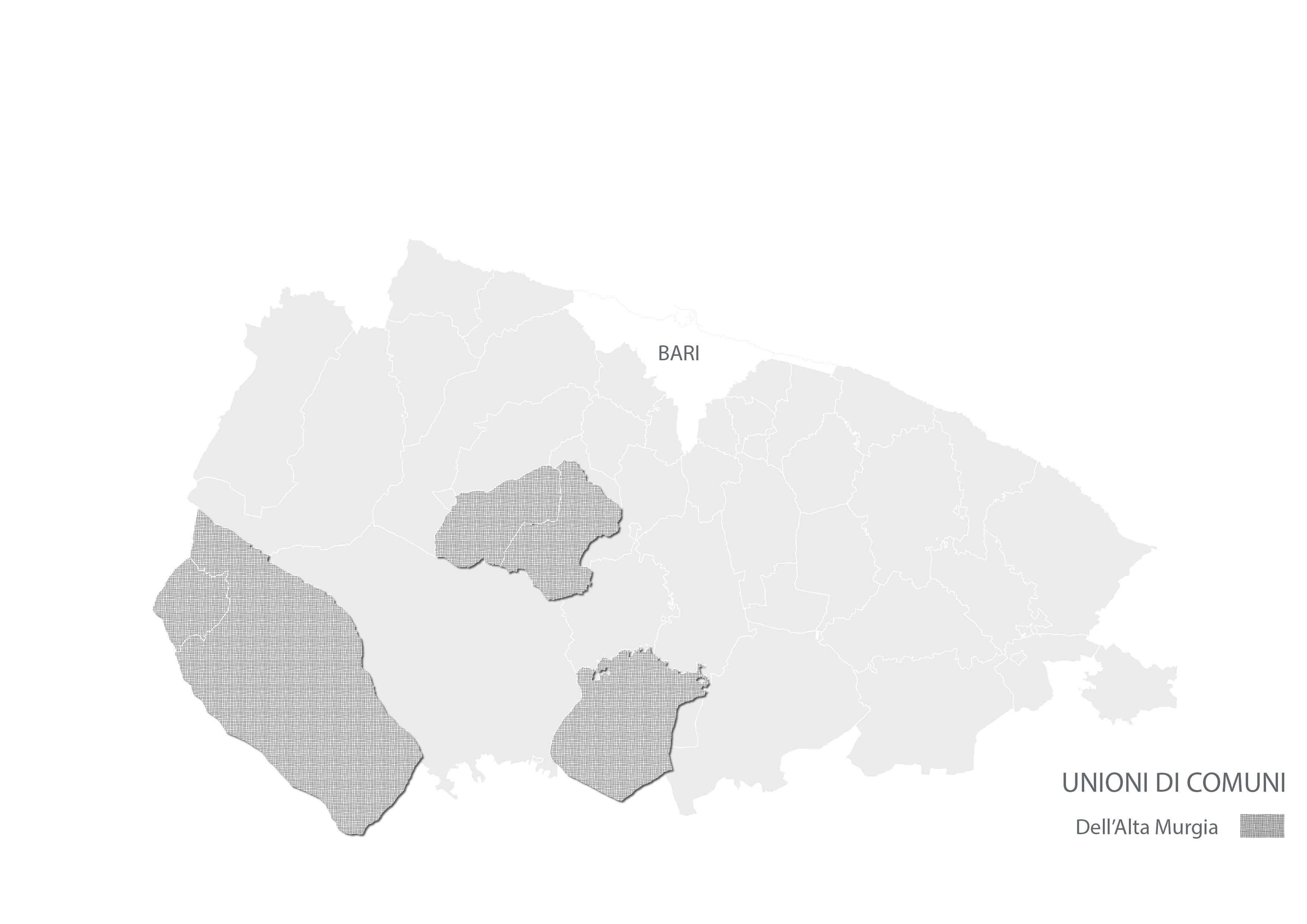 Città Metropolitana di Bari - Unioni di Comuni