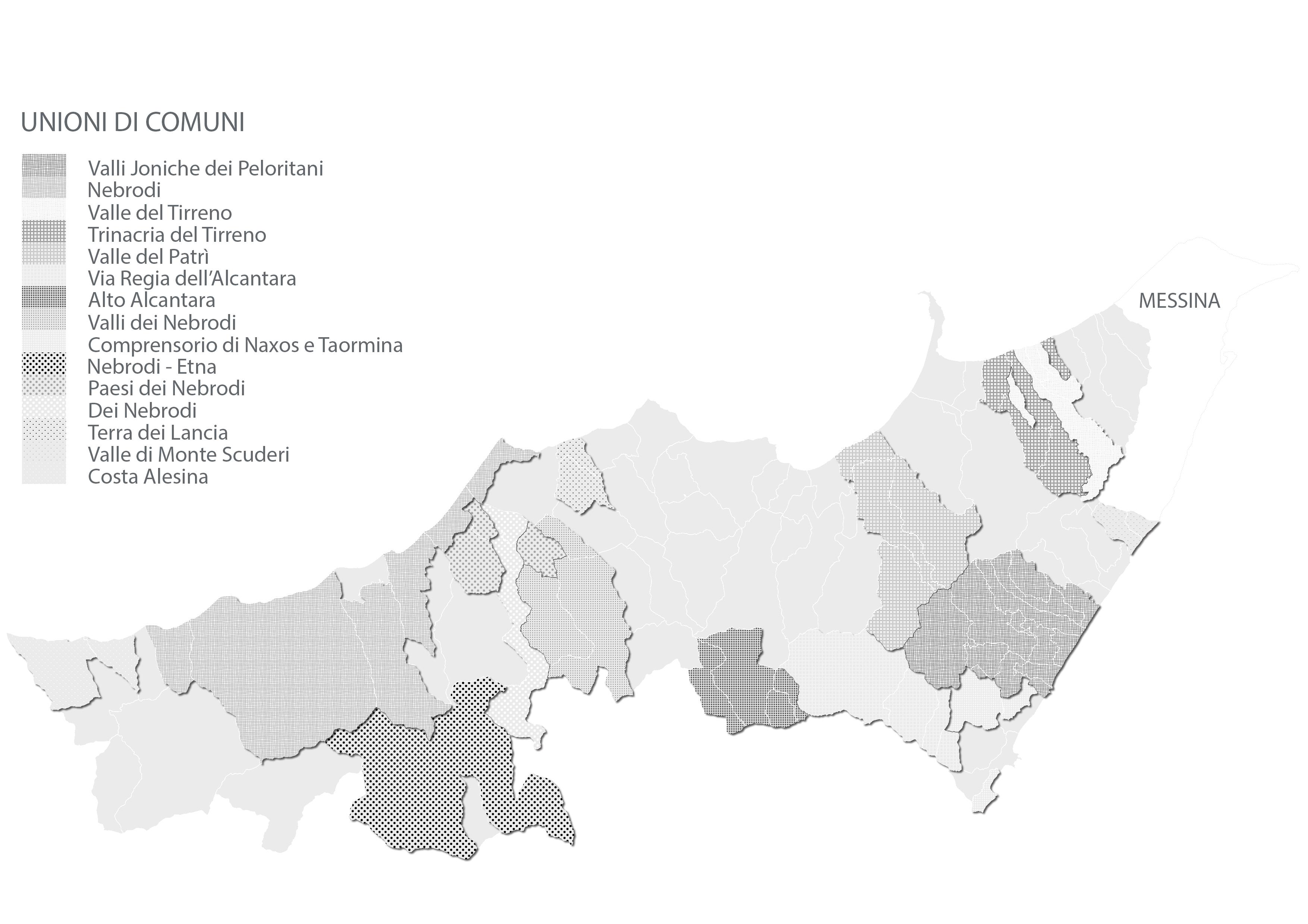 Città Metropolitana di Messina - Unioni di Comuni