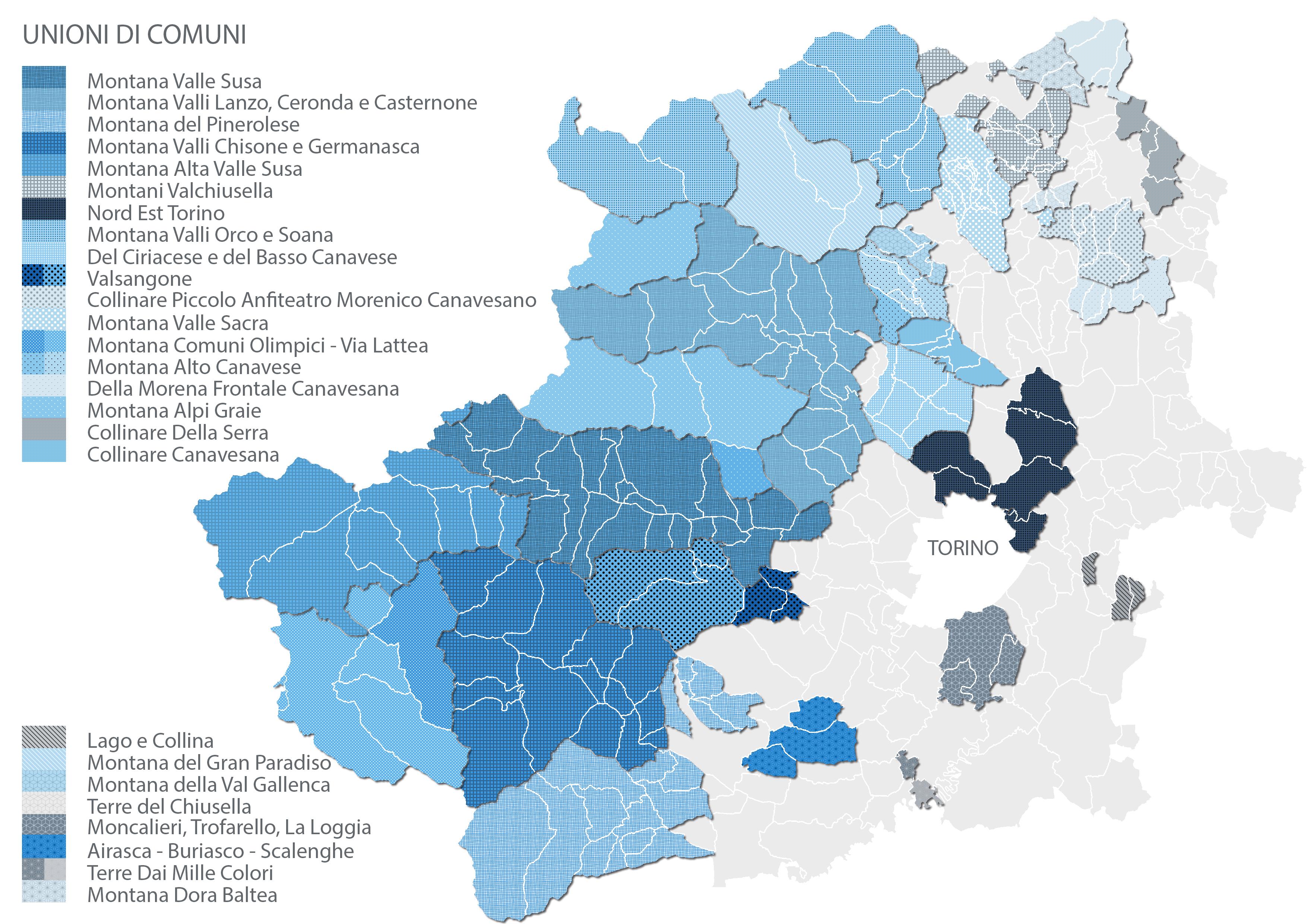 Unioni di Comuni - Città Metropolitana di Torino