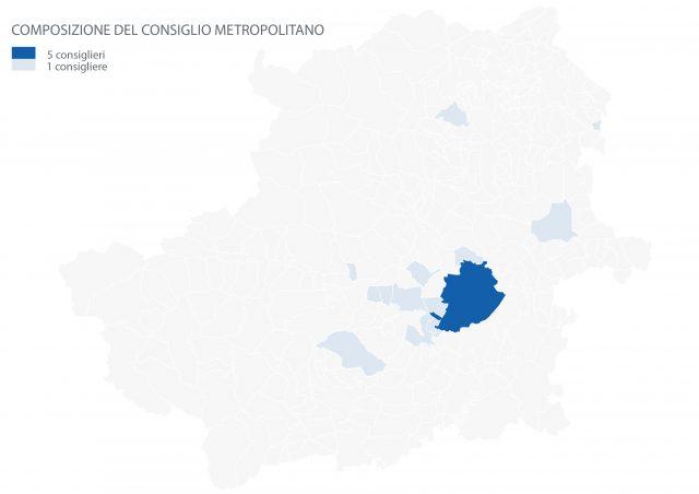Distribuzione sul territorio dei consiglieri metropolitani