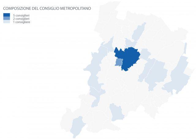 Distribuzione dei consiglieri metropolitani sul territorio - CM Bologna