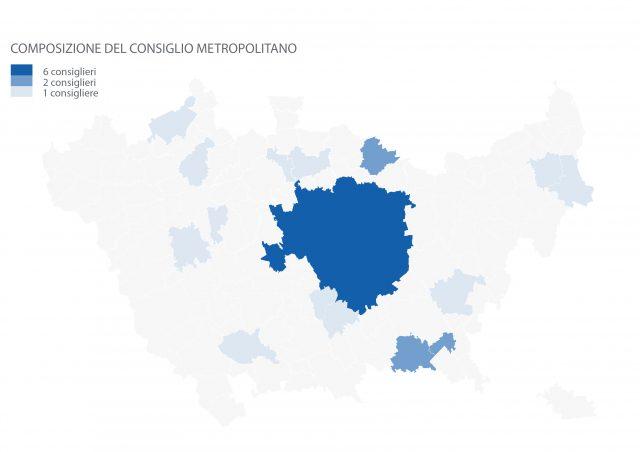 Distribuzione dei consiglieri metropolitani sul territorio - CM di Milano