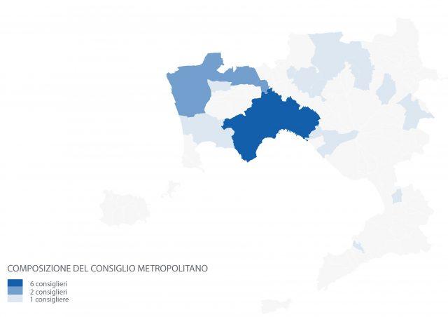 Distribuzione dei consiglieri metropolitani sul territorio - CM Napoli