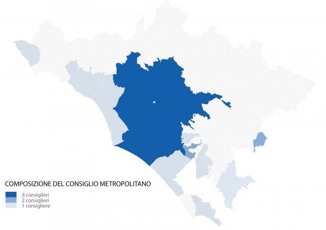 Distribuzione dei consiglieri metropolitani sul territorio - CM Roma Capitale